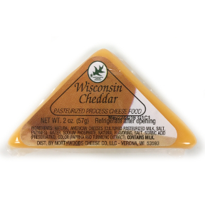 Northwoods Cheese Wisconsin Cheddar Triangle, F12-0271101-7200