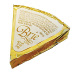 Gourmet Brie Flavor Cheese Spread Wedge F12-0271531-8200 - 0.67 oz cheese wedge  (wrapper color varies).