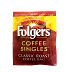Folgers Coffee Singles F20-1207601-1100 - 100% pure coffee. Freshly brewed by the cup. Individual bag in sealed pouch. A convenient travel size for on the go.