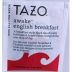 Tazo Awake Black Tea F20-1608505-0000 - Single tea bag in sealed packet. Natural. A breakfast tea of boldness, depth and character, invigorating any time of day.