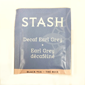 Stash Earl Grey Decaf Tea F20-1623703-0000 - Single tea bag in sealed packet. 100% natural ingredients. Blended black teas with oil of bergamot.