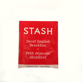 Stash English Breakfast Decaf Tea F20-1623707-0000 - Single tea bag in sealed packet. Natural.