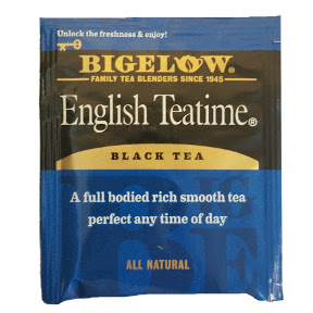 Bigelow English Teatime F20-1623809-0000 - Single tea bag in sealed packet.