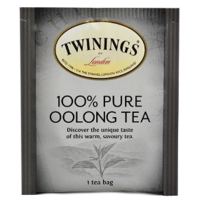 Twinings® of London 100% Pure Oolong Tea F20-1626913-0000-Single tea bag in sealed packet.