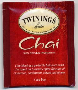 Twinings of London Chai Tea F20-1626914-0000 - Single tea bag in sealed