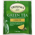 Twinings® of London Green Tea Lemon F20-1726904-0000-Single tea bag in sealed packet. 100% Natural Ingredients.