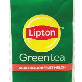 Lipton® Green Tea Superfruit F20-1808223-0000-Single tea bag. Individually packaged. Acai, Dragonfruit and Melon.