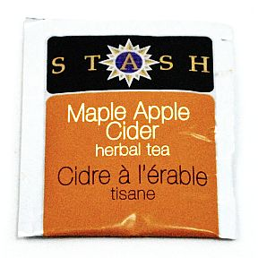 Stash Maple Apple Cider Herbal Tea F20-1823709-0000-Single tea bag in sealed packet. 100% Natural Ingredients. Caffeine Free.