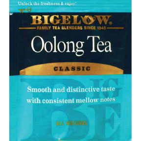 Bigelow® Oolong Tea F20-1823804-0000 - Single tea bag in sealed packet. Gluten-Free. All Natural.