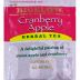 Bigelow Cranberry Apple Herb Tea F20-1823807-0000 - Single tea bag in sealed packet. Natural. No caffeine. A delectable blend of cranberries and sweet apples.
