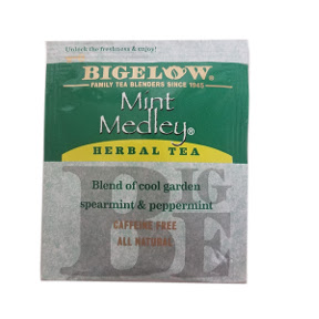 Bigelow Mint Medley Herb Tea F20-1823811-0000 - Single tea bag in sealed packet. A refreshing blend of peppermint and spearmint.