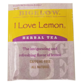 Bigelow I Love Lemon Herb Tea F20-1823812-0000 - Single tea bag in sealed packet. A special blend for lemon lovers.
