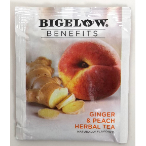 Bigelow® Benefits CALM STOMACH - Ginger & Peach Herbal Tea, F20-1823860-0000