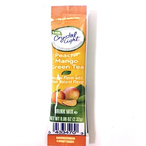 Crystal Light® Peach-Mango Green Tea F20-2209954-0100 - 0.08 oz. packet.