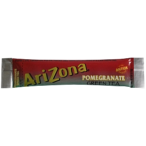 Arizona Sugar Free Pomegranate Green Tea Mix F20-2242713-0100 - 0.1 oz packet makes 16.9 to 20 oz drink.