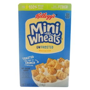 Kellogg's® Bite Size Mini-Wheats Unfrosted Cereal (Box) F25-2509121-4100