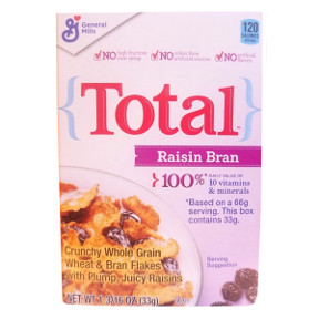 General Mills® Raisin Bran Total Cereal (box) F25-2509204-4100