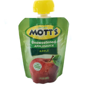 Motts Applesauce Snack And Go Pouch Natural Travel Size