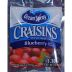 Ocean Spray Blueberry Craisins F30-3017402-1200 - 1.16 oz individual package.