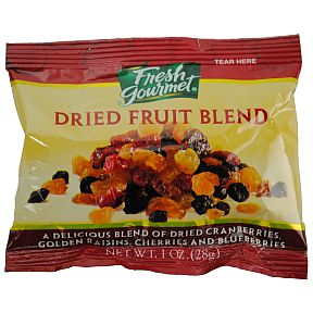 Fresh Gourmet Dried Fruit Blend Travel Size Amp Miniature