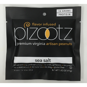 Pizootz Sea Salt Flavor Infused Premium Virginia Gourmet Artisan Peanuts, F30-3122401-8300