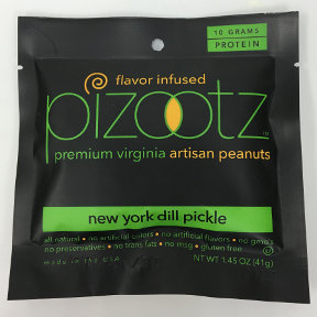 Pizootz New York Dill Pickle Flavor Infused Premium Virginia Gourmet Artisan Peanuts, F30-3122405-8300