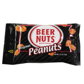Beer Nuts Original Peanuts F30-3241401-4200 - Individual size snack in a 1.25 oz package