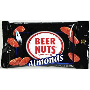 Beer Nuts® Almonds 1oz. F30-3241402-4100-1 oz. packet of sweet & salty almonds.