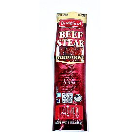 Bridgford Beef Steak - Original 1 oz. F30-3639110-8200-1 oz. individually packaged Beef Steak. Original Flavor. Made in the USA.