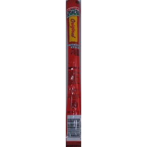 Oberto Original Smoked Stick F30-3656504-8200 - 1 oz travel size smoked stick in sealed package.