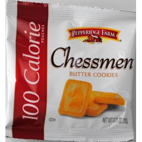 Pepperidge Farm 100 calorie Chessmen Butter Cookies F30-3930006-8200