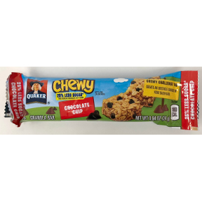 Quaker® Chewy Granola Bar Chocolate Chip - Low Sugar, F30-4009303-8101