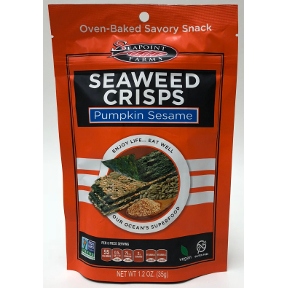 Seapoint Farms Seaweed Crisps Pumpkin Sesame, F30-4035302-8100
