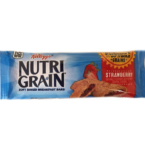 Kellogg's® NutriGrain® Soft Baked Breakfast Bars - Strawberry F30-4109102-8100-1.3 oz in individually sealed package.