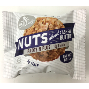 Betty Lou's® Nuts about Cashew Butter Protein Plus - 1.7 oz package.  Certified Gluten-Free.