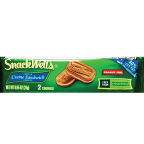 SnackWells® Vanilla Crème Sandwich Cookie 2 pack F32-3935502-8200 - 2 cookies in 0.85 oz. travel size sealed package.