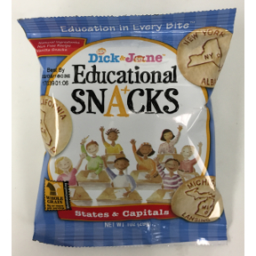 Dick & Jane Educational Snacks States & Capitals, F32-3935604-8100