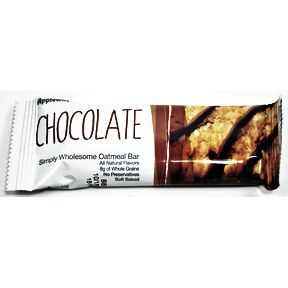 Appleways® Chocolate Simply Wholesome Oatmeal Bar F32-3937403-8200-1.2 oz. soft baked chocolate oatmeal bar.
