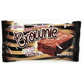 Love & Quiches® Gourmet Classic Chocolate Brownie F32-3963001-8200-2 oz. brownie bar, individually wrapped.