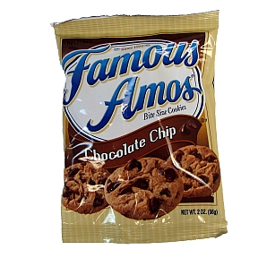 Famous Amos Chocolate Chip Bite Size Cookies Travel Size