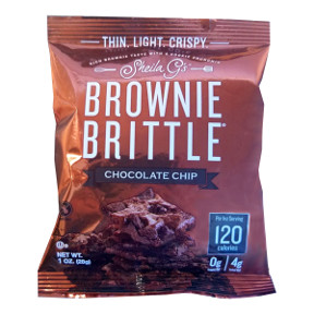 Sheila Gs Brownie Brittle Chocolate Chip F32-3985601-8200-1 oz bag. Only 120 Calories Per Serving.