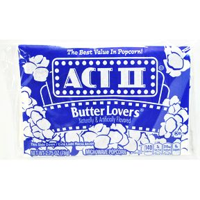 Act II® Butter Lovers® Popcorn - F40-4129503-8300 - 2.75 oz. package of unpopped popcorn.