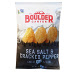 Boulder Canyon Potato Chips - Sea Salt and Cracked Pepper F40-4366405-8400-1.5 oz. bag of kettle cooked potato chips. Sea Salt and Cracked Pepper flavor.