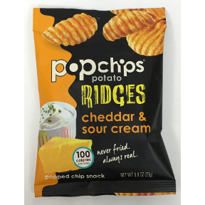 Popchips Cheddar & Sour Cream Ridges, F40-4368507-8300