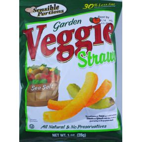 Sensible Portions Garden Veggie Straws - Sea Salt F40-4784306-8200 - 1 oz sealed bag.