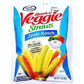 Sensible Portions Garden Veggie Straws - Zesty Ranch F40-4784307-8200 - 1 oz sealed bag.