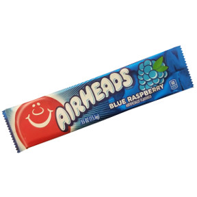Airheads Candy - Blue Raspberry F51-4377002-9100 -.55 oz. tasty candy in a sealed wrapper