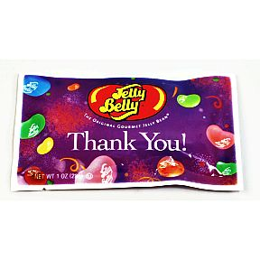 Jelly Belly® Thank You 1 oz F51-4546036-1200-1 oz. Thank You! packet of jelly beans.