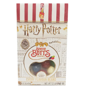 Harry Potter™ Bertie Botts Every Flavour Beans 1.2 oz Box - F51-4546038-4200 - 1.2 oz. package of assorted jelly beans.