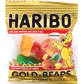 Haribo® Gold-Bears®  Mini Bags F51-4586901-1100 - Mini bag assorted flavors.
